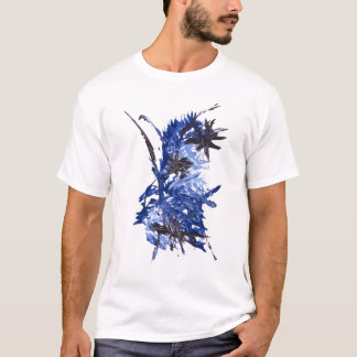 BLUE PAINT SPLATTER tee