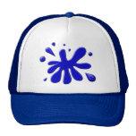 Blue Paint Splodge Mesh Hats