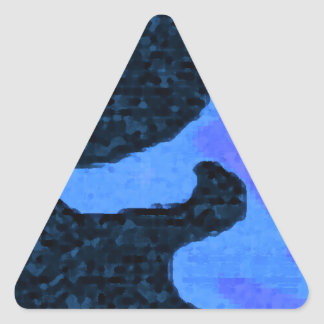 blue Paint Triangle Sticker