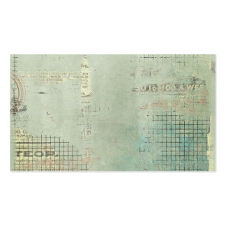 blue paint vintage Newspaper STamped collage Business Card