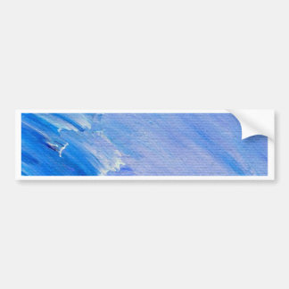 Blue Painted Abstract Customizable Design Bumper Sticker
