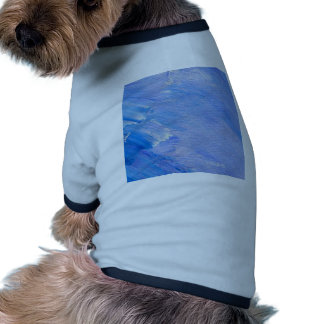 Blue Painted Abstract Customizable Design Doggie Shirt