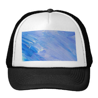 Blue Painted Abstract Customizable Design Hat