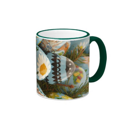 Blue Painted Easter Eggs Coffee Mugs