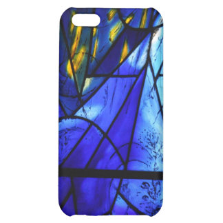 Blue Painted Glass Window iPhone 5C Case
