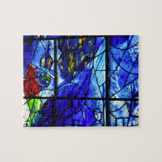 Blue Painted Window Abstract Jigsaw Puzzles