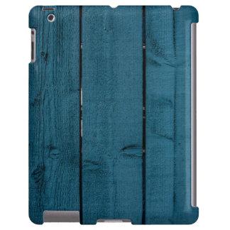 Blue painted wood planks
