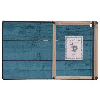 Blue painted wood planks iPad covers