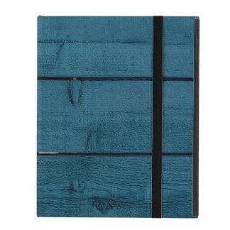 Blue painted wood planks iPad case