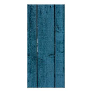 Blue painted wood planks rack card