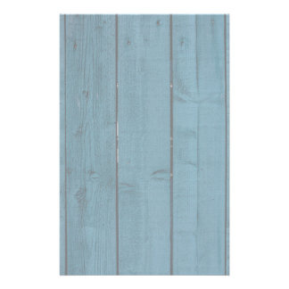 Blue painted wood planks stationery