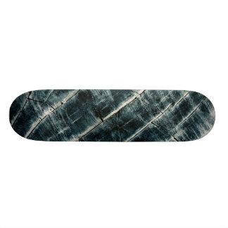 Blue Painted Wood Skateboard