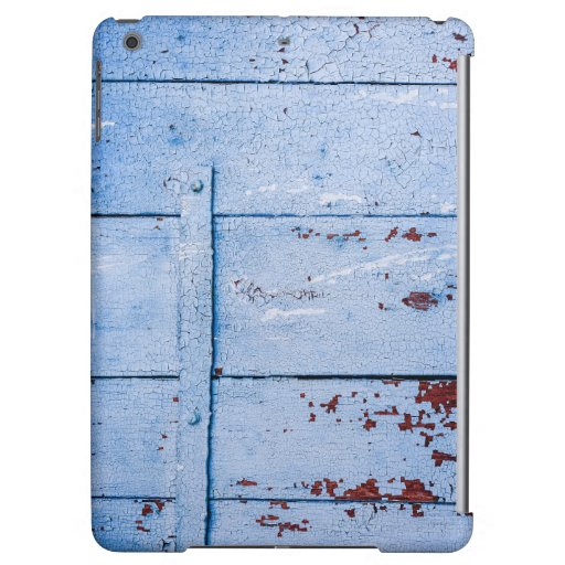 Blue painted wooden surface case for iPad air