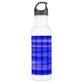 Blue painting art graphic design water bottle