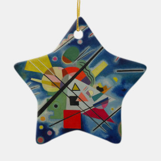 Blue Painting by Kandinsky Ceramic Ornament