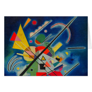 Blue Painting by Wassily Kandinsky Card