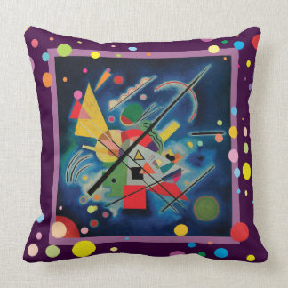 Blue Painting by Wassily Kandinsky Throw Pillow