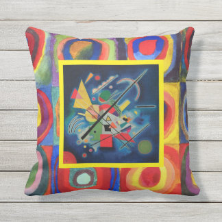 Blue Painting on Color Study by Wassily Kandinsky Throw Pillow