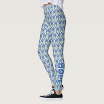 Blue Paisley Awareness Ribbon Angel Leggings