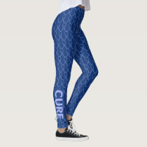Blue Paisley Awareness Ribbon Custom Leggings