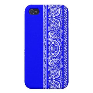 Blue Paisley Bandana iPhone 4 Case