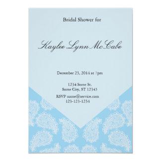 Blue Paisley Bridal Shower Card