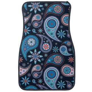 Blue Paisley Floor Mat