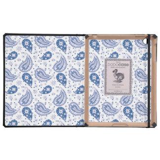 Blue Paisley Frost iPad Case