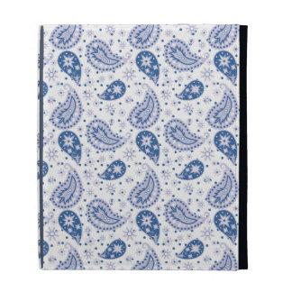 Blue Paisley Frost iPad Folio Case