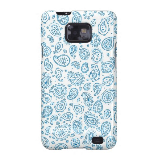 Blue Paisley Galaxy SII Cases