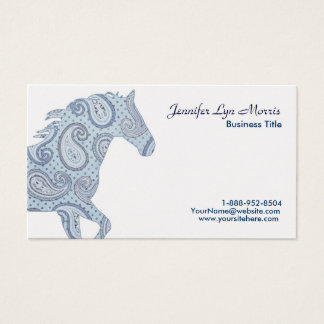 Blue Paisley Horse Business Card