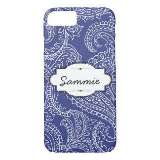 Blue Paisley iPhone 7 Barely There Case