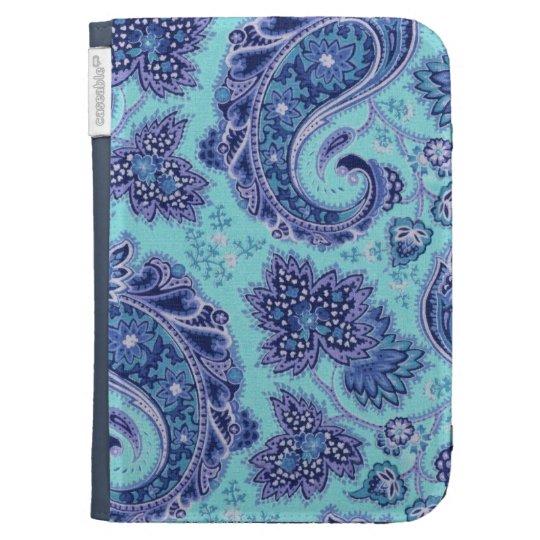 Blue Paisley Kindle Case