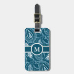 Blue Paisley Pattern Bag Tag
