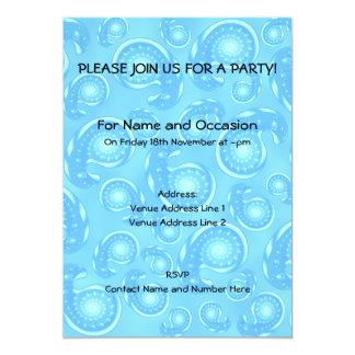 Blue Paisley Pattern. Card