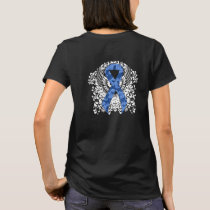 Blue Paisley Ribbon with Wings T-Shirt