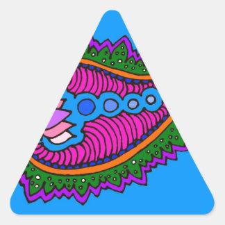 Blue Paisley Triangle Sticker
