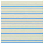 [ Thumbnail: Blue & Pale Goldenrod Colored Lines Fabric ]