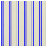[ Thumbnail: Blue & Pale Goldenrod Lines/Stripes Pattern Fabric ]