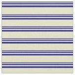[ Thumbnail: Blue & Pale Goldenrod Stripes Fabric ]