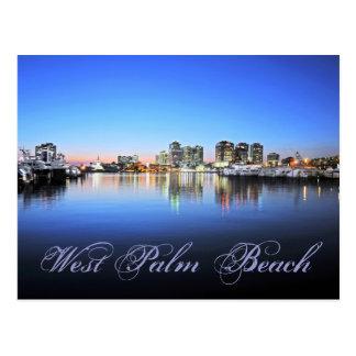 Blue Palm Beach Postcard