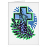 Blue Palm Cross Cards