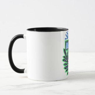 Blue Palm Cross Mug