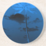 Blue Palm Drink Coaster