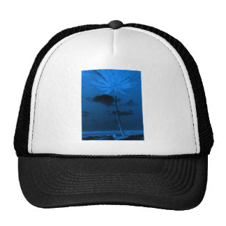 Blue Palm Trucker Hat