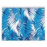 Blue palm leaves calendar