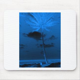 Blue Palm Mouse Pad