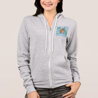 blue palm pit hoodie