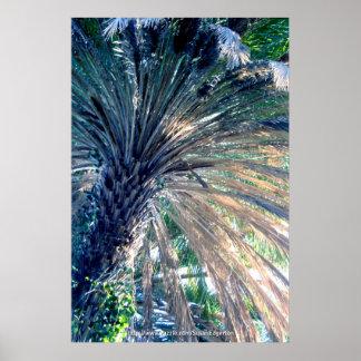 Blue Palm Poster