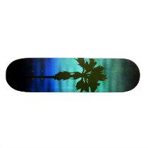 Blue Palm Skateboard